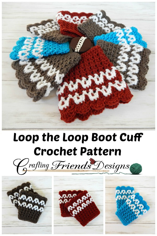 Loop The Loop Boot Cuff Crochet Pattern By Crafting Friends Designs