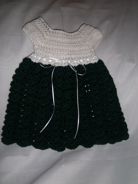 Shell Brook Infant Dress and Afghan Set Crochet Pattern
