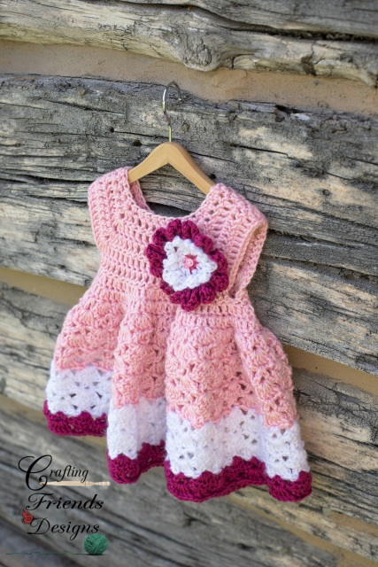Snap Dragon Infant Dress Set Crochet Pattern
