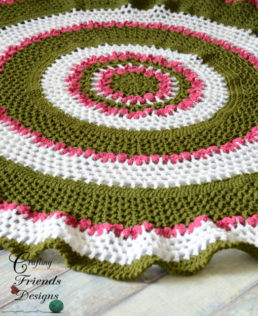 Summer Trellis Round Afghan Crochet Pattern By Crafting