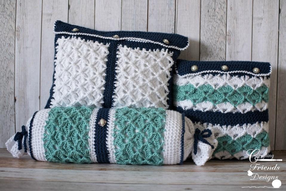 Seafoam Tranquility Rectangle Pillow Crochet Pattern