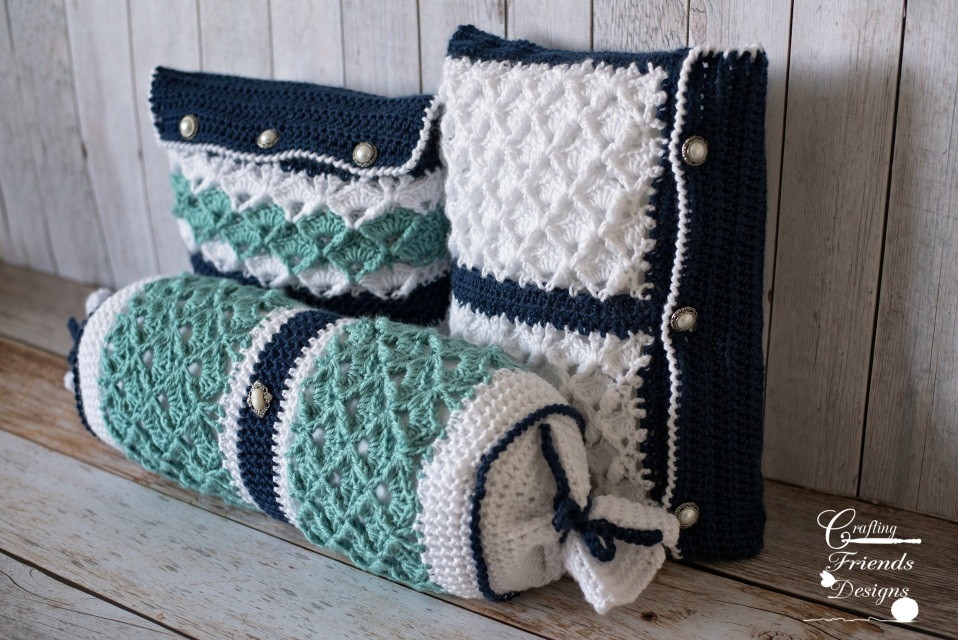 Seafoam Tranquility Square Pillow Crochet Pattern