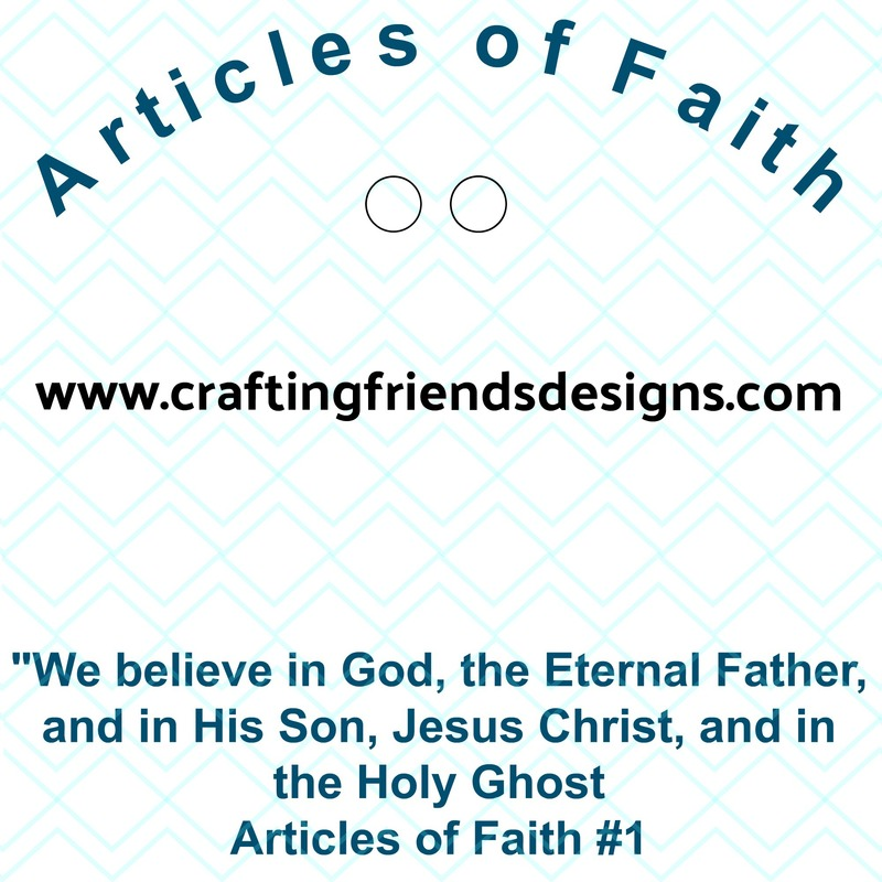 Articles of Faith Charm card for Faith in God - Activity Days by Crafting Friends Designs