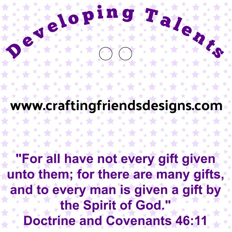 Developing Talents Charm Card  for Faith in God - Activity Days by Crafting Friends Designs