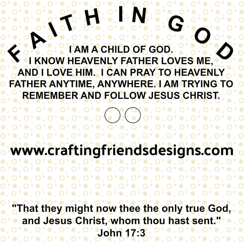 Faith in God Charm Card for Activity Days by Crafting Friends Designs