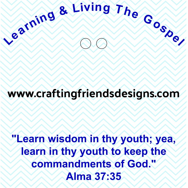Learning & Living the Gospel Charm Card for Faith in God - Activity Days by Crafting Friends Designs