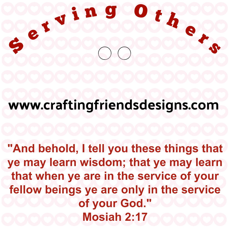 Serving Others Charm Card for Faith in God - Activity Days by Crafting Friends Designs
