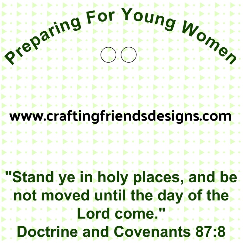 Preparing for Young Women Charm Card for Faith in God - Activity Days by Crafting Friends Designs