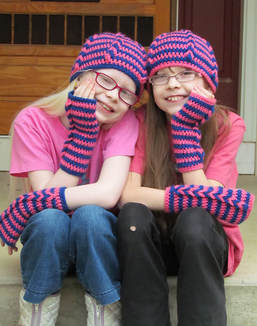 BFF Hat and wristwarmer crochet pattern by Ambassador Crochet