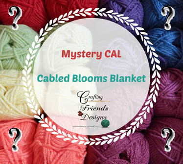 Cabled Blooms Blanket MCAL