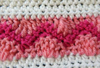 Wave and Chevron crochet stitch tutorial by Crafting Friends Designs