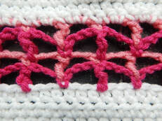 Triangle Mesh crochet stitch instructions by Crafting Friends Designs