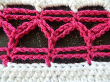 Zig Zag Double String crochet stitch instructions by Crafting Friends Designs