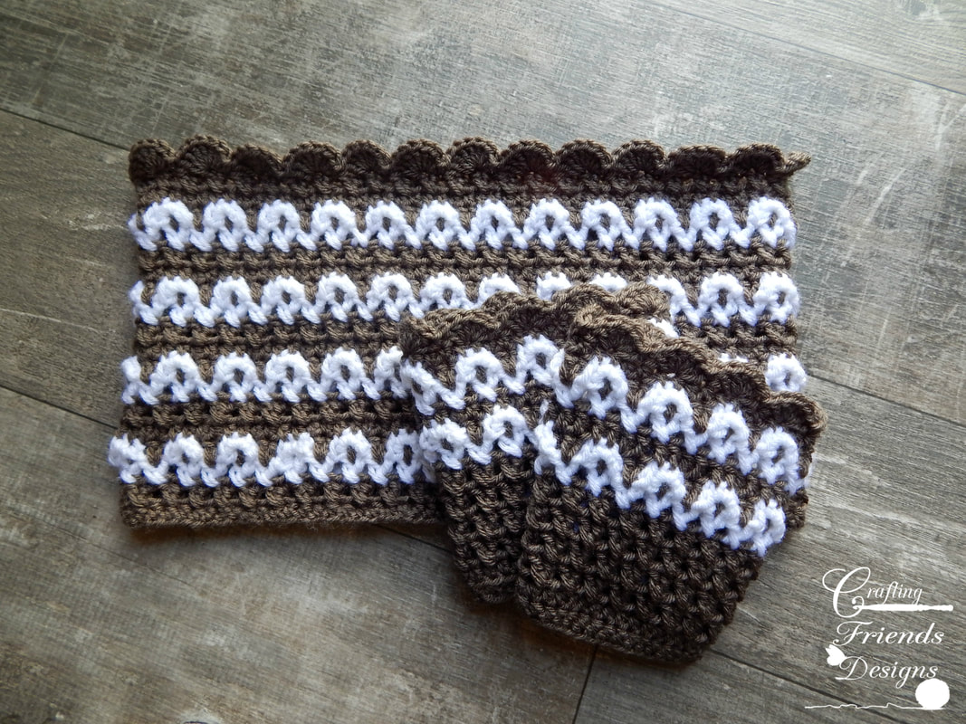 Loop the Loop Cowl and Boot Cuff crochet patterns