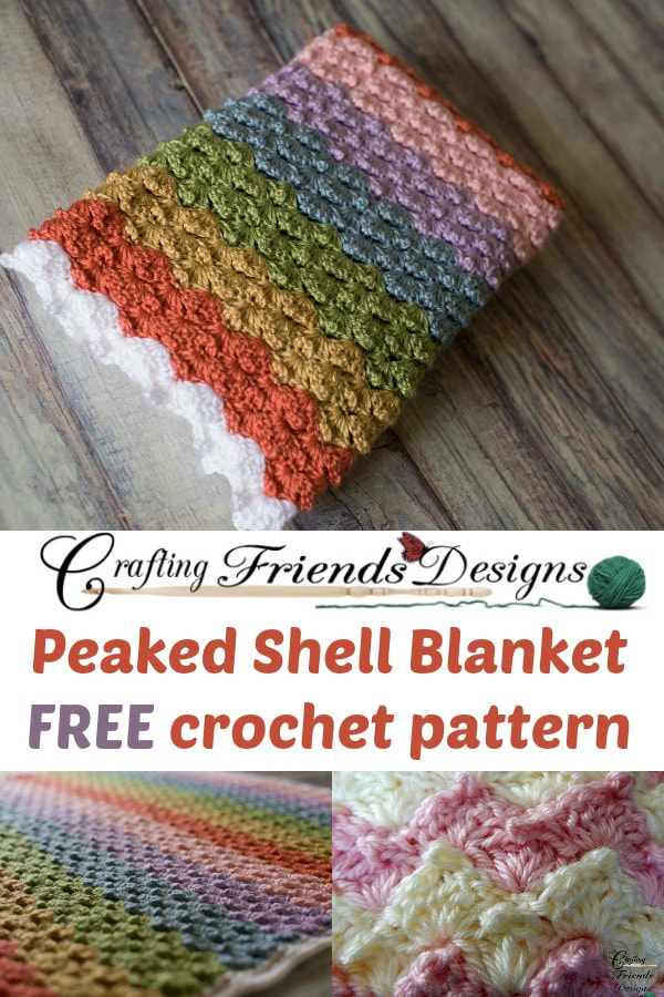 Peaked Shell Blanket Crochet Pattern