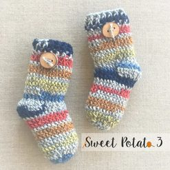 Newborn Socks crochet pattern by Sweet Potato 3