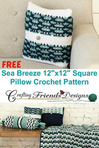 Sea Breeze Square Pillow crochet pattern by Crafting Friends Designs