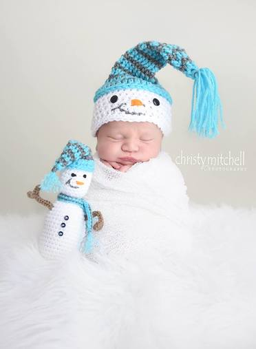Snowman Hat & Lovey set crochet pattern