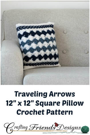 Traveling Arrows Square Pillow Crochet Pattern