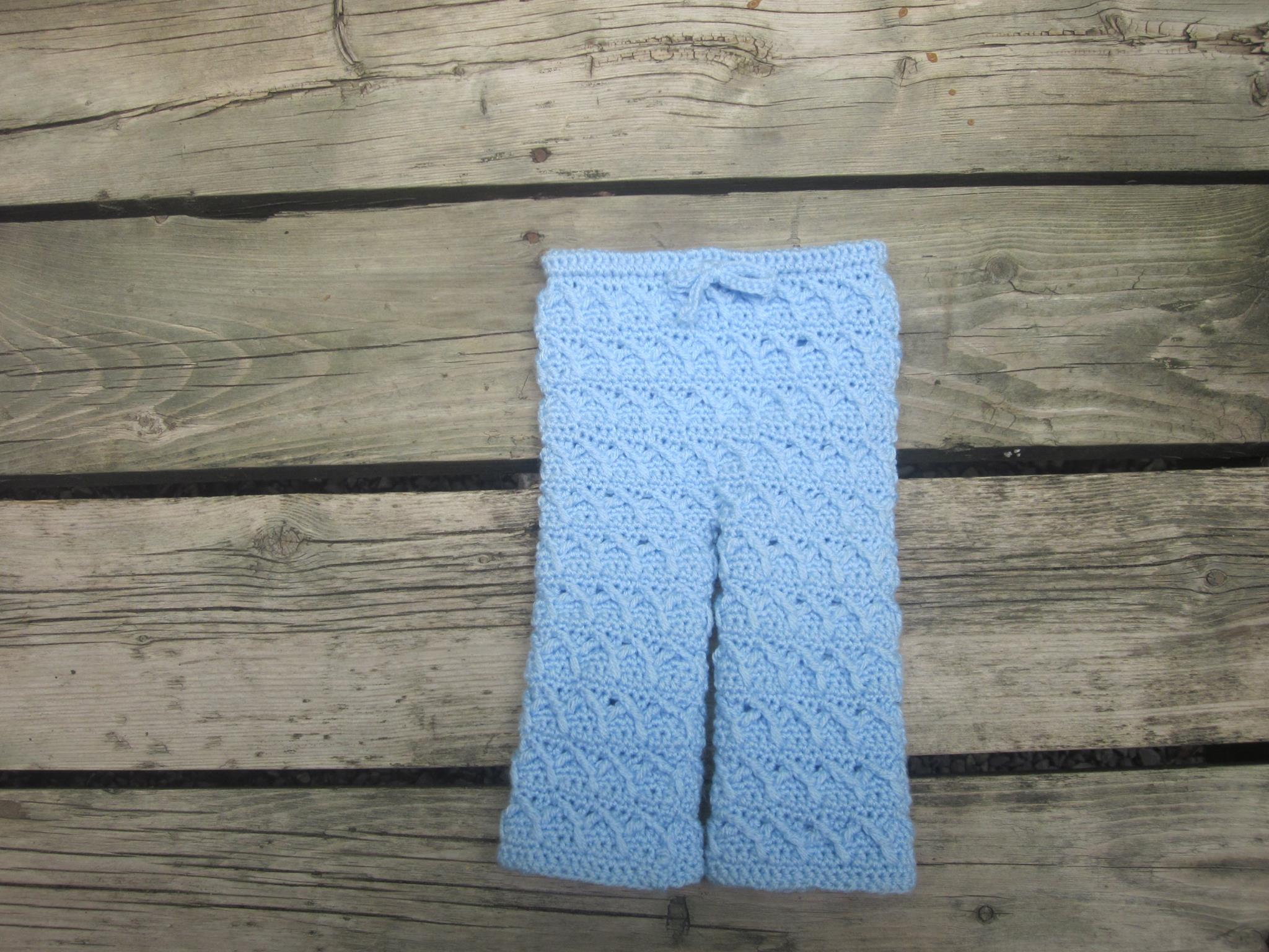 Textured Y Infant Pants Crochet Pattern